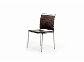Shasta - Modern Brown Eco-Leather Dining Chair (Set of 2)