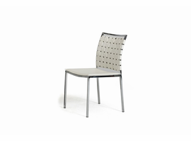 Shasta - Modern White Eco-Leather Dining Chair (Set of 2)
