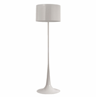 Silk Floor Lamp, White [FREE SHIPPING]