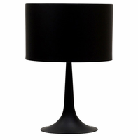 Silk Table Lamp, Black [FREE SHIPPING]