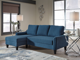 Ashley Furniture Sofa Chaise Sleeper, Blue