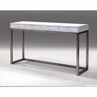 Sofa Table Palco Hg White With Brushed Stainless Steel