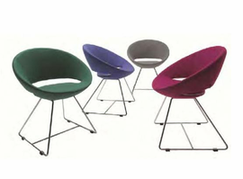 Soho Concept -�Crescent�Leatherette Wire Chair