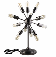 Spectrum Metal Table Lamp, Black [FREE SHIPPING]