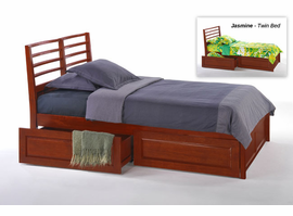 Spice Cherry Jasmine Twin Bed