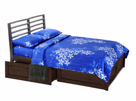 Spice Chocolate Jasmine Twin Bed