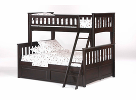 Spice Chocolate Twin/Full Bunk Bed Night & Day