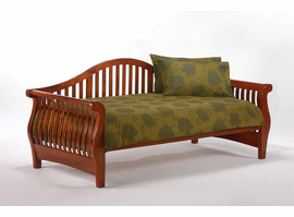 Spice Night Fall Daybed in Cherry / White