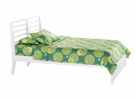 Spice White Jasmine Twin Bed