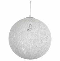"""Spool 16"""" Chandelier, White [FREE SHIPPING]"""