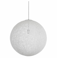 """Spool 24"""" Chandelier, White [FREE SHIPPING]"""