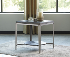 Ashley Express Furniture Square End Table, Gray