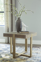 Ashley Express Furniture Square End Table, Light Brown