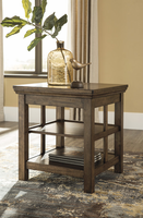 Ashley Express Furniture Square End Table, Medium Brown