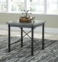 Ashley Express Furniture Square End Table, Metallic Gray