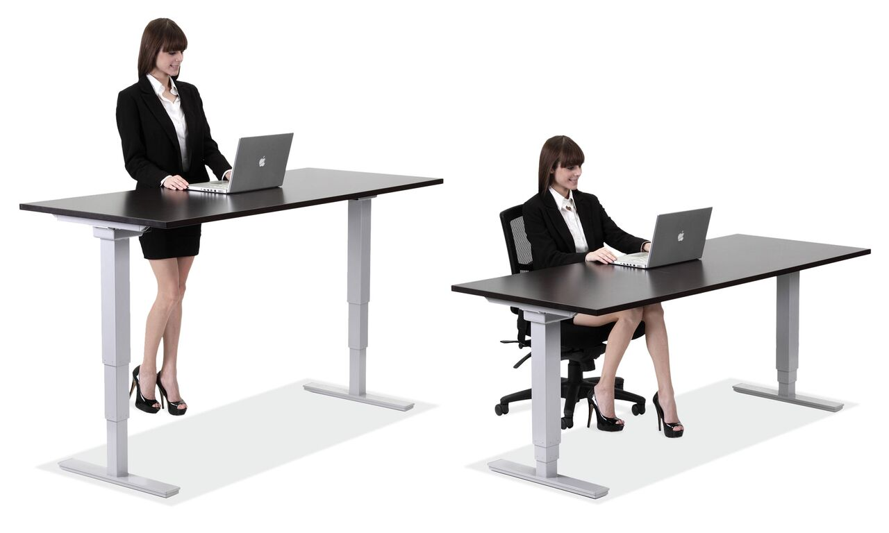 Stand up desks by office source coe furniture for Office chairs for standing desks