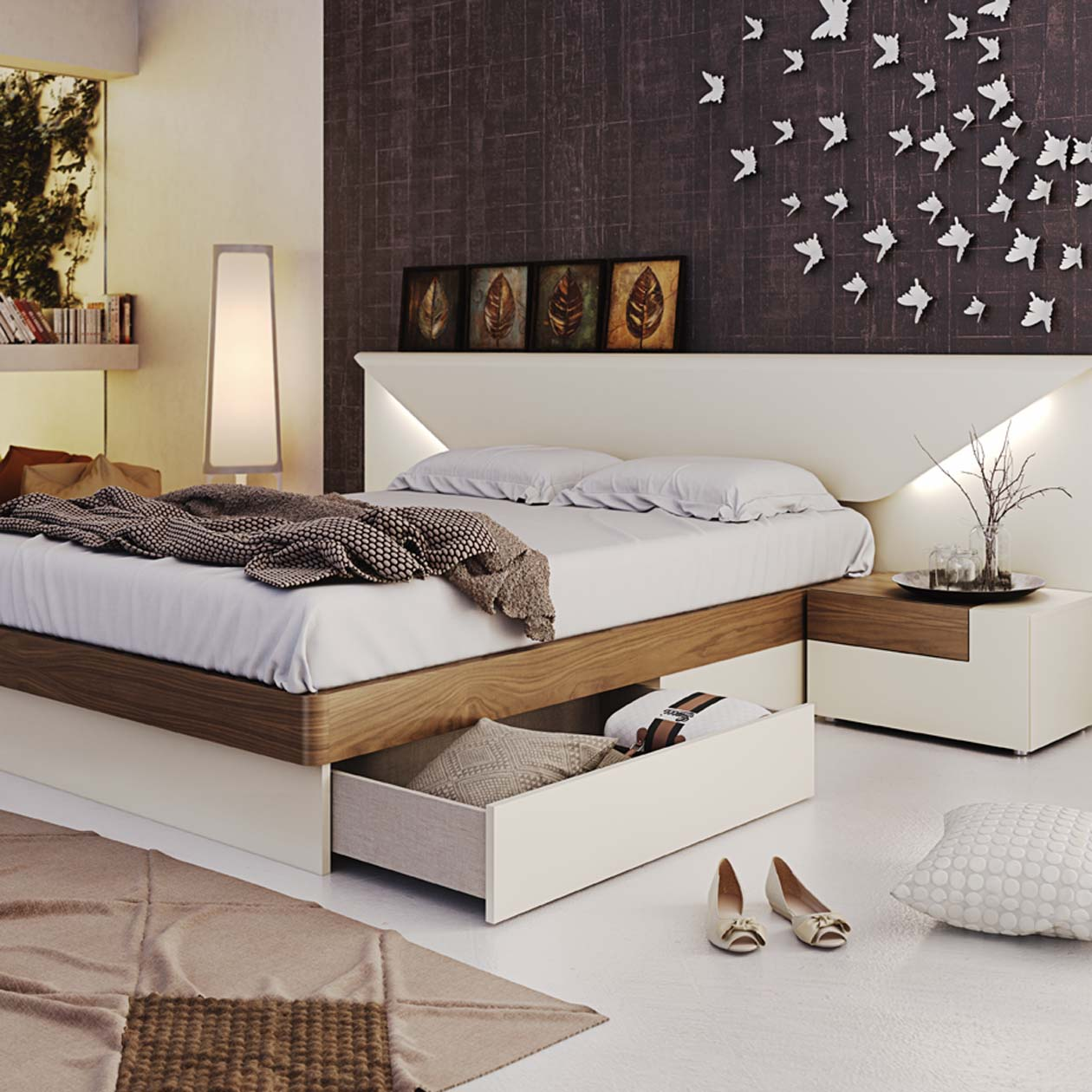 Contemporary Furniture Bed: Storage Beds With Drawers Or Hydraulic Lift Storage