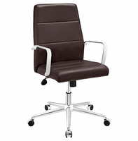 Stride Mid Back Office Chair, Brown [FREE SHIPPING]