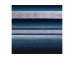 """Sunpan Blue Shimmer - 40"""" X 40"""" - Gallery Wrapped"""