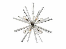 Sunpan Faraday - Chandelier - Large - Clear Glass