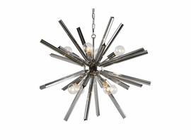 Sunpan Faraday - Chandelier - Large - Smoke Grey Glass