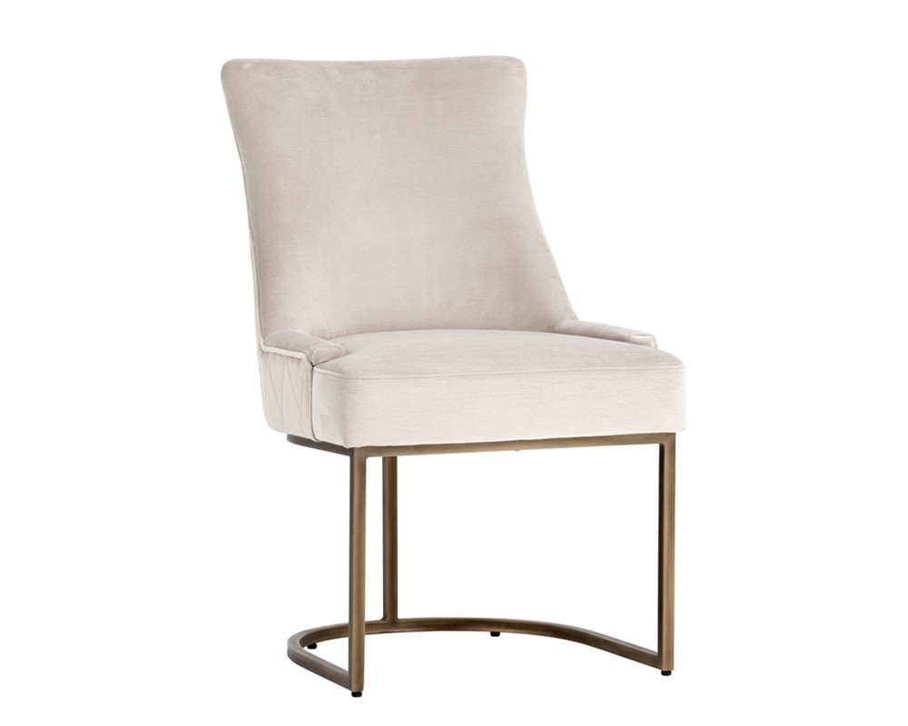 Sunpan florence dining chair rustic bronze pimlico prosecco fabric set of 2