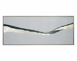 """Sunpan Frequency- 30"""" X 72"""" - Silver Floater Frame"""
