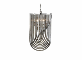Sunpan Kepler - Chandelier - Large - Smoke Grey Glass