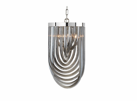 Sunpan Kepler - Chandelier - Small - Smoke Grey Glass