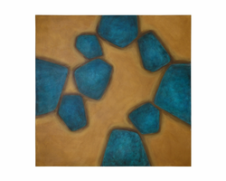 """Sunpan Lost Turquoise - 48"""" X 48"""" - Gallery Wrapped"""