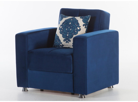 Istikbal Furniture Elegant Armchair (Roma Navy)