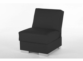Istikbal Furniture Kobe Armless Chair (Santa Glory Black) -pu