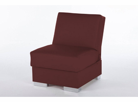 Istikbal Furniture Kobe Armless Chair (Santa Glory Burgundy) -pu