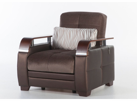 Istikbal Furniture Natural Armchair (Prestige Brown)