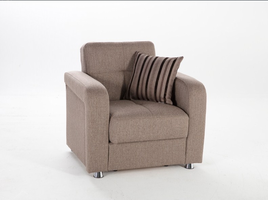 Istikbal Furniture Vision Armchair (Redeyef Brown)