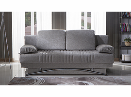 Sunset Istikbal Fantasy Valencia Gray 3 Seat Sleeper Sofa to Queen bed