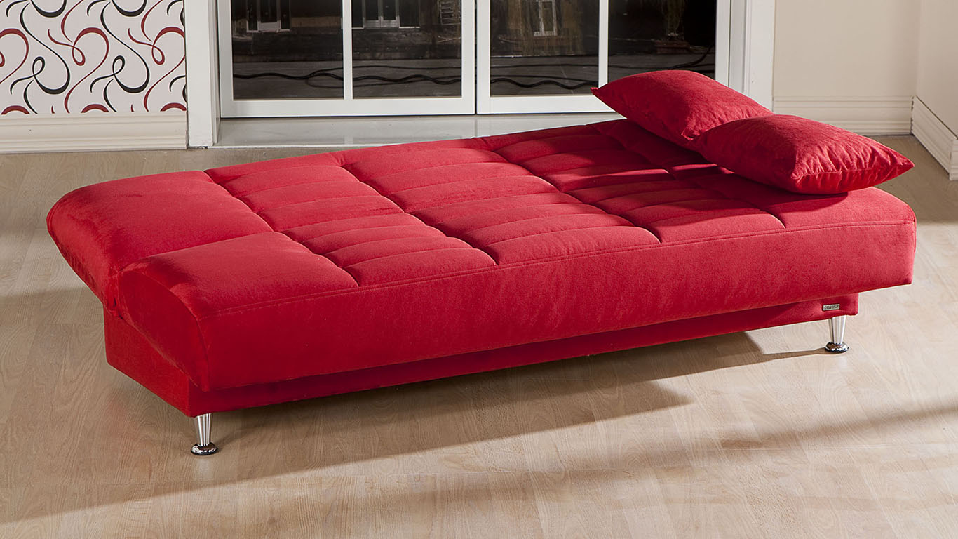 Sunset istikbal vegas rainbow red 3 seat sleeper for Z furniture las vegas