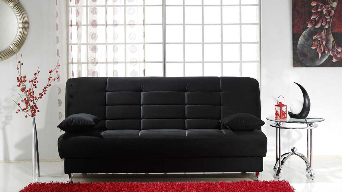 Sunset istikbal vegas rainbow black 3 seat sleeper for Z furniture las vegas