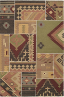 Surya Rugs Patch Work Collection Area Rug (Free Delivery)