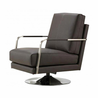 Swivel Armchair Zuma Grey Leatherette