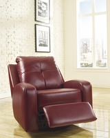 Ashley Furniture Swivel Glider Recliner, Red