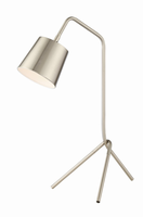 Table Lamp, Brushed Nickel, E12 Type G 60w