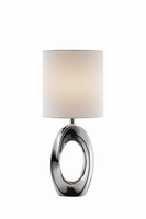 Table Lamp, Ceramic Body/white Fabric Shade, E27 Type A 60w