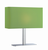 Table Lamp, Chrome/green Fabric Shade, E12 Type G 40w