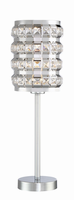 Table Lamp, Chrome/stainless Steel/crystal, Type A 60w