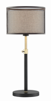 Table Lamp, Coffee/metal Net Shade/inner Fabric, E27 A 60w