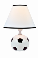 Table Lamp - Soccer Ceramic Body/fabric Shade, E27 Cfl 11w