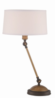 Table Lamp, Two-tone/linen Fabric Shade, E27 Cfl 23w