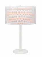 Table Lamp, White/double-layer White Fabric, E27 Cfl 23wx2