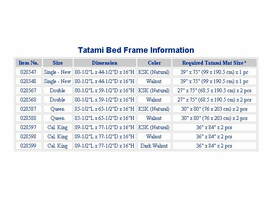 Tatami Bed Size